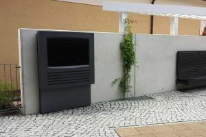 Outdoor Infoterminal für die Wandmontage