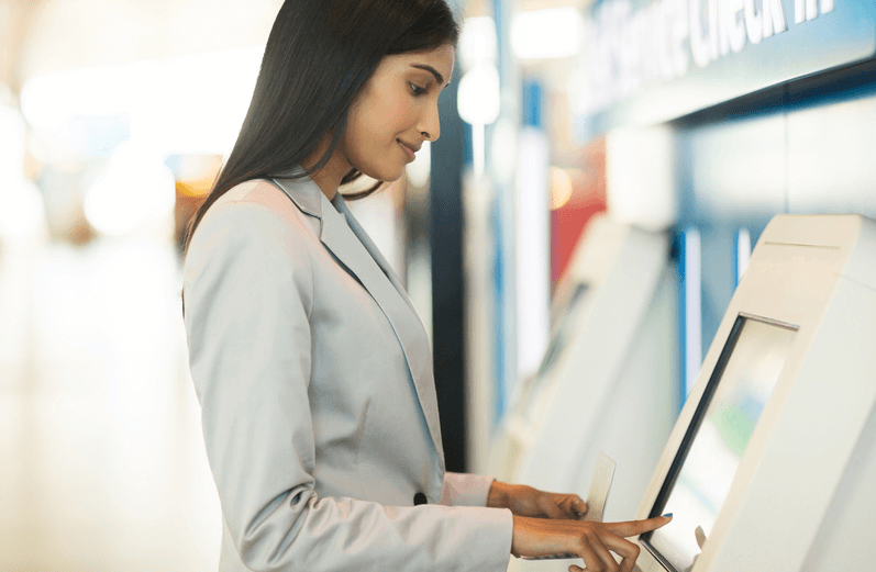 Besucherregistrierung Self-Service Infoterminal